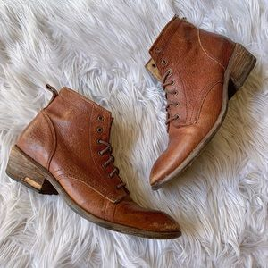 Frye Carson Lace-Up Ankle Boot Antiqued Leather